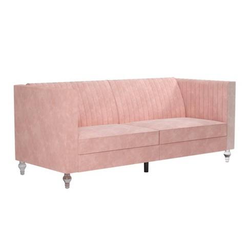 Arabelle Futon With Acrylic Leg Pink