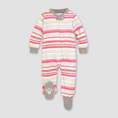 Burt's Bees Baby® Girls' Organic Cotton Striped Sleep N' Play - 0-3M