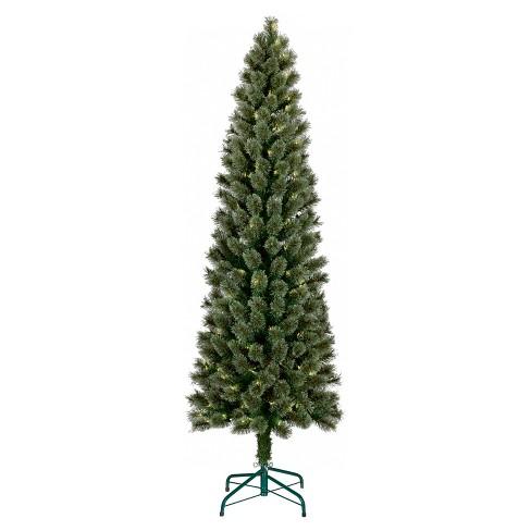 6ft Prelit Artificial Christmas Tree Slim Virginia Pine Clear Lights -  Wondershop™ - 6ft Prelit Artificial Christmas Tree Slim Virginia... : Target