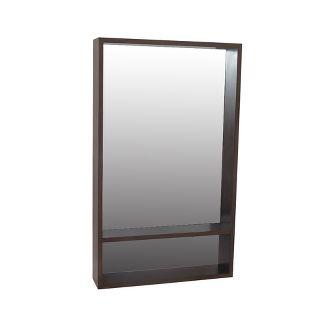 "40""x23.75"" Modern Wall Mirror with Shelf Walnut Brown - Project 62™"