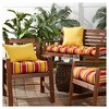 Carnival Stripe Outdoor Seat Cushion - Kensington Garden - image 3 of 4