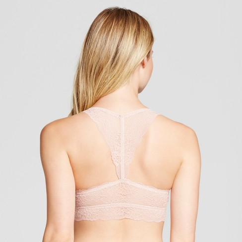 dad75e0cc7ddc Women s Lace Racerback Bralette - Gilligan   O Malley™ Palm Beach Pink XL    Target
