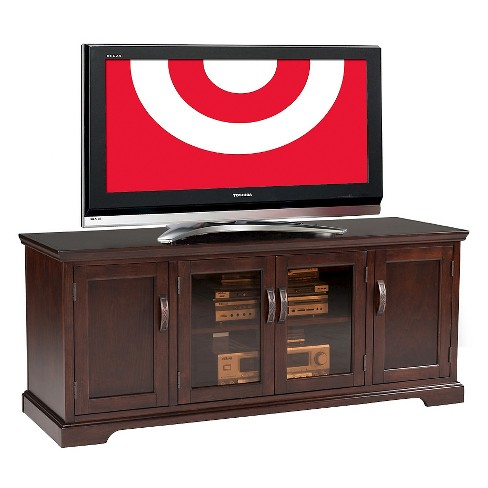 60 Riley Holliday Tv Stand Chocolate Cherry Leick Home Target