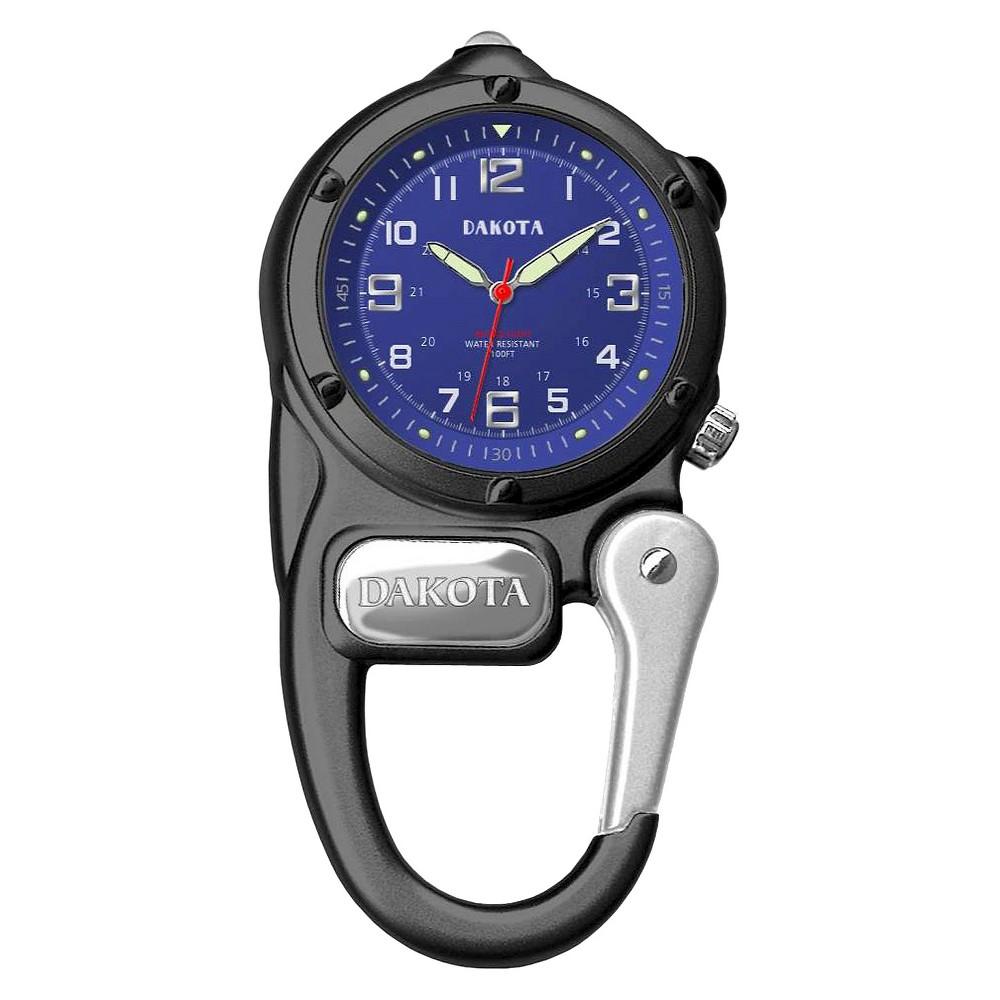 Image of Men's Dakota Mini Clip Microlight Watch - Black, Size: Small