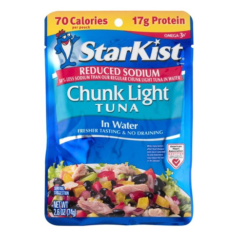 StarKist Reduced Sodium Chunk Light Tuna in Water Pouch - 2.6oz - image 1 of 3