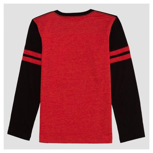 e8522abb82d7 Boys' Long Sleeve Pikachu T-Shirt - Red/Black : Target