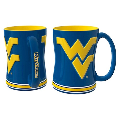 West Virginia Mountaineers Boelter Brands 2 Pack Sculpted Relief Style Coffee Mug - Blue/ Yellow (15 oz) - image 1 of 1