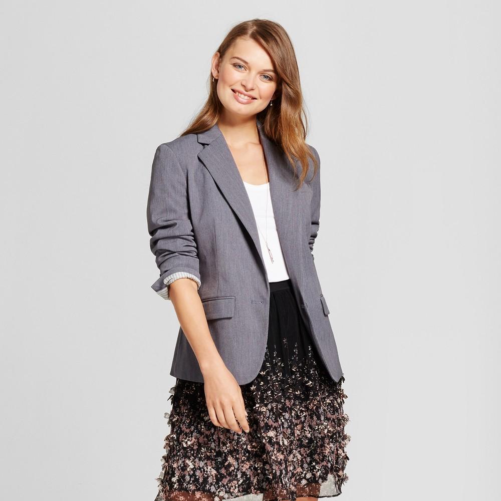 Women's Bi-Stretch Twill Blazer - A New Day Gray 14