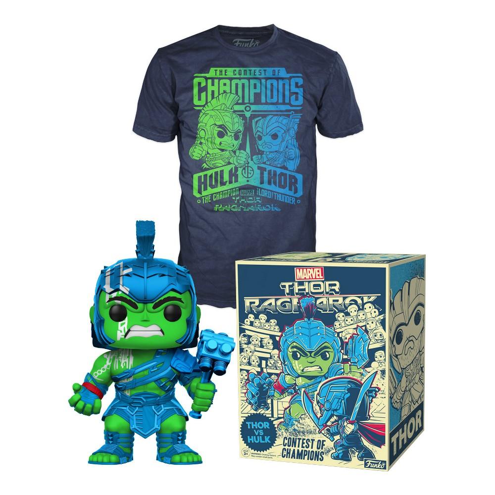 Funko Pop! Thor Ragnarok: Thor vs Hulk T-shirt + Pop! - Xlarge