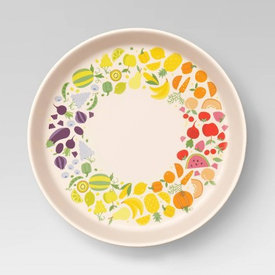 "7.3"" Bamboo and Melamine Kids Dinner Plate - Pillowfort™"