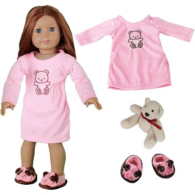 Dress Along Dolly Nightgown Pajamas Outfit for American Girl Doll