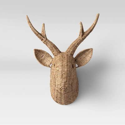 Seagrass Deer Head Wall Decor Natural - Opalhouse™