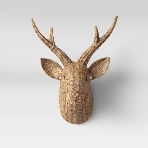 Seagrass Deer Head Wall Decor Natural Opalhouse