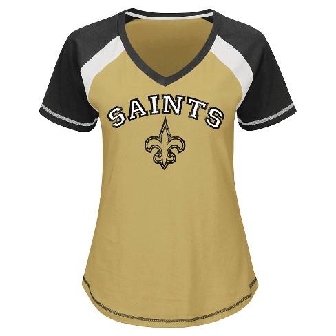 89204cd29 New Orleans Saints Women s 2nd Raglan T-Shirt   Target