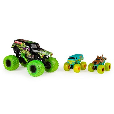 Monster Jam  Curse Of The Gasolin  Grave Digger -  3-Pack Bundle