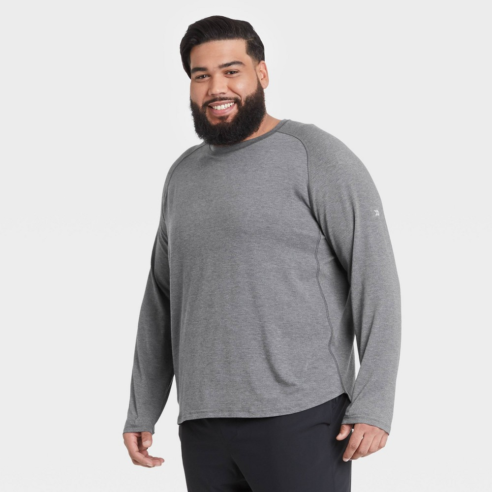 Men 39 S Long Sleeve Run T Shirt All In Motion 8482 Black Xxl