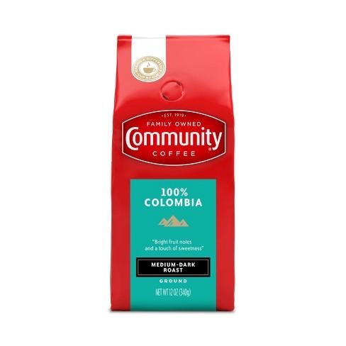 Community Coffee 100% Colombia Altura Medium Dark Roast Ground Coffee - 12oz - image 1 of 4
