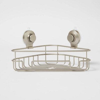 Wire Corner Suction Basket Matte Satin - Made By Design™