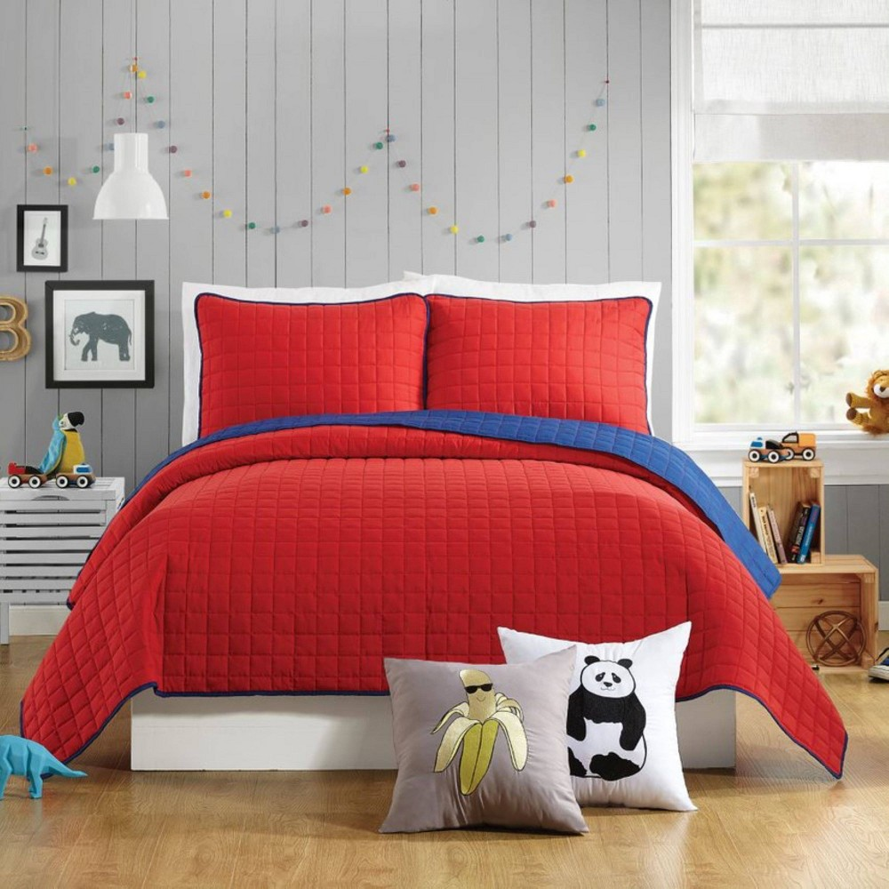 Image of 2Pc Twin Ayer Quilt Set Red - Urban Playground
