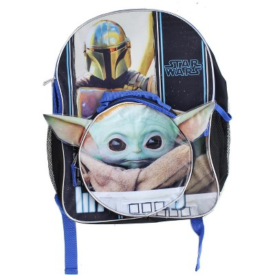 Fast Forward Star Wars The Mandalorian The Child 16 Inch Backpack w/ Lunch Kit