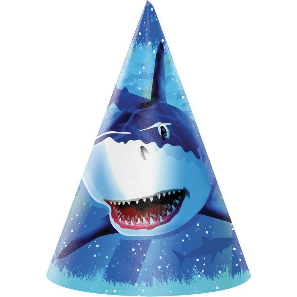 Image of 24ct Shark Splash Party Hats