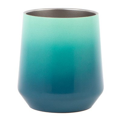 Haute Cup Stemless Wine Glass 12oz - Blue/Turquoise