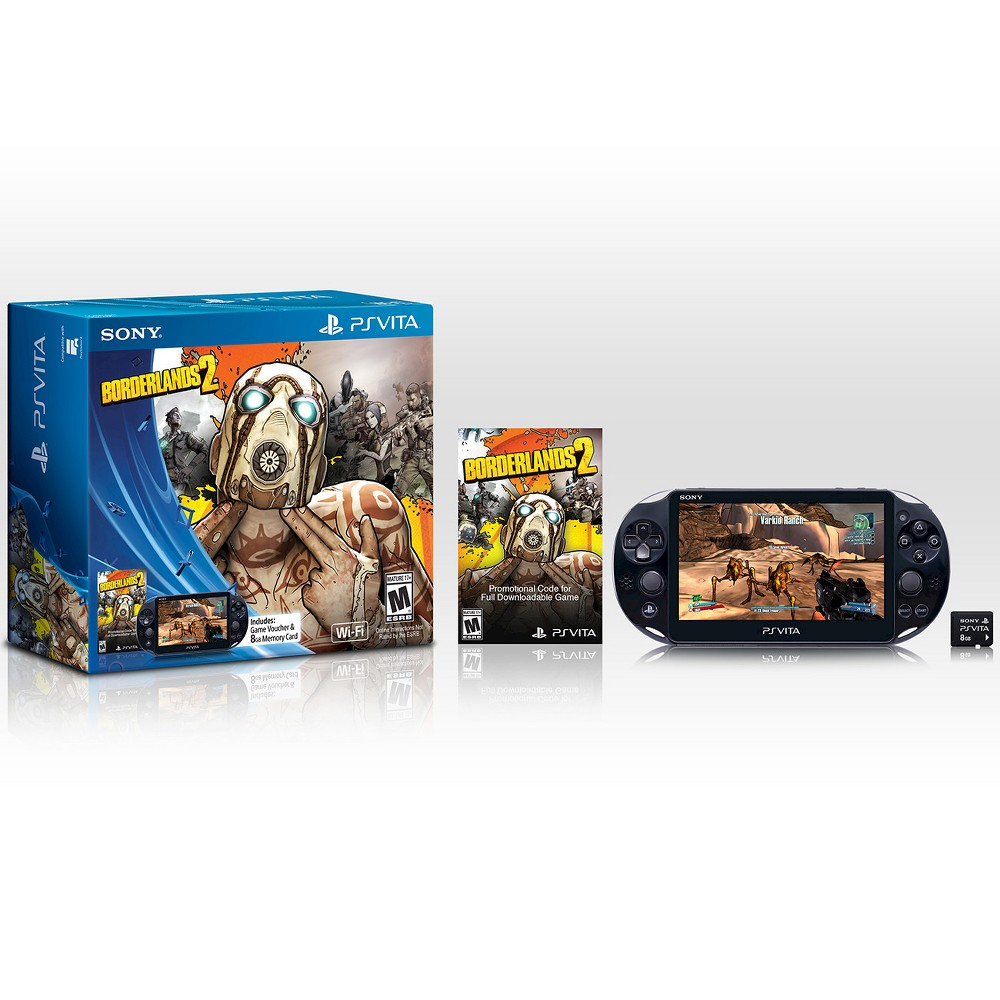 PlayStation Vita WiFi Bundle with 8GB Memory Card and Borderlands 2 Voucher