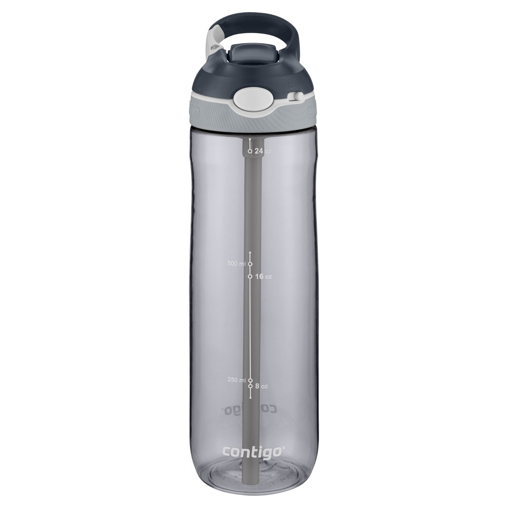 Contigo 24oz Autospout Straw Ashland Water Bottle Gray