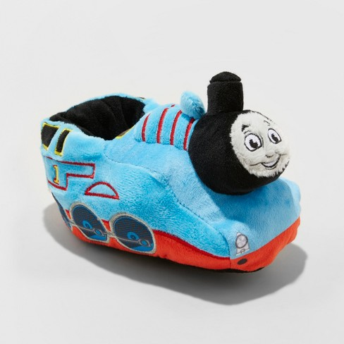 Toddler Boys' Mattel Thomas & Friends Bootie Slippers - Blue L (7-8) - image 1 of 4