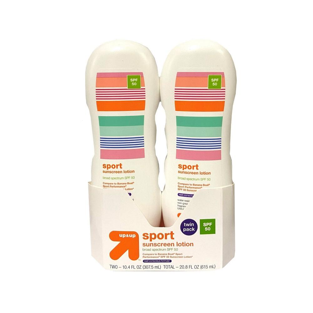 Image of Sport Lotion - SPF 50 - 2pk/20.8 fl oz - Up&Up