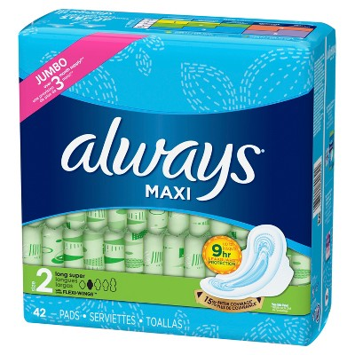 Always Maxi Pads With Wings - Size 2 - 42ct