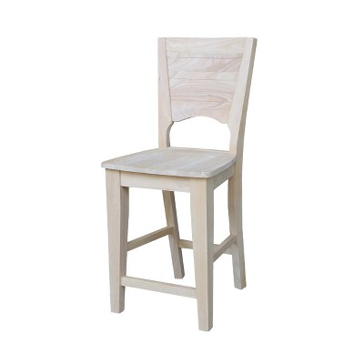 """24"""" Canyon Counter Height Barstool Unfinished - International Concepts"""