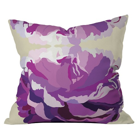 Purple Jardin Throw Pillow - Deny Designs - image 1 of 1
