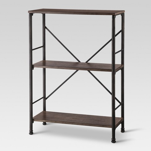 378 Mixed Material 2 Shelf Bookcase Brown