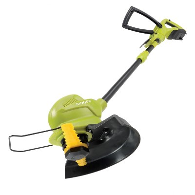 Sun Joe 24V-SB10-CT 24-Volt iON+ Cordless SharperBlade Stringless Lawn Trimmer | 10-Inch | Tool Only.