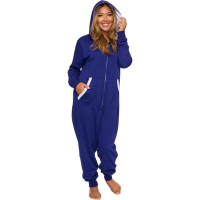 Silver Lilly Slim Fit Women's One Piece Pajama Union Suit