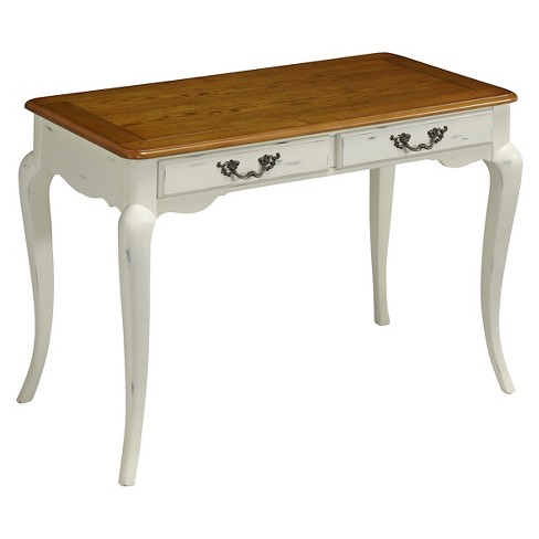 French Countryside Student Desk White/Brown - Home Styles - image 1 of 3