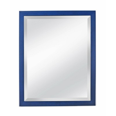 """27"""" x 33"""" Oceanfront Beveled Glass Framed Wall Mirror Blue - Alpine Art & Mirror"""