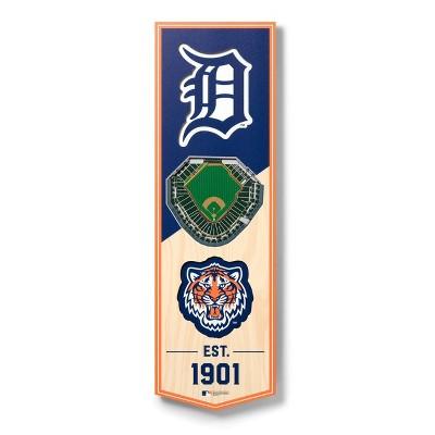 "MLB Detroit Tigers 6""x19"" Stadium 3D View Banner"