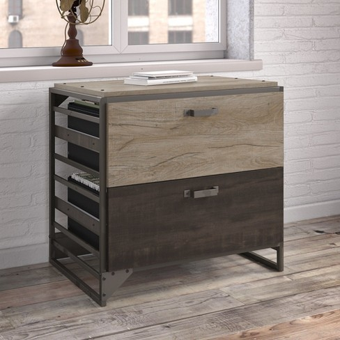 Refinery 2 Drawers File Cabinet Rustic Gray Bush Furniture Target