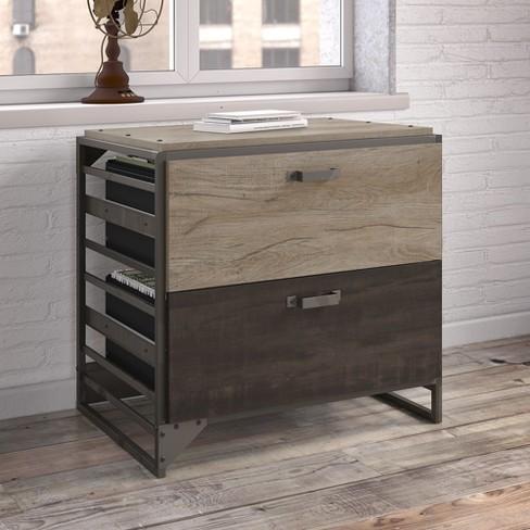 Refinery 2 Drawers File Cabinet Rustic Gray Bush Furniture Target