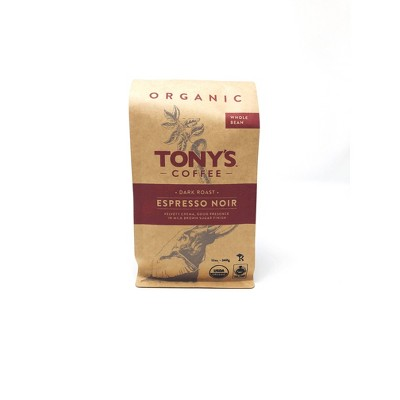 Tony's Coffee Espresso Noir Dark Roast Whole Bean Coffee - 12oz