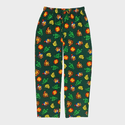 Men's Nintendo Donkey Kong Pajama Pants - Green