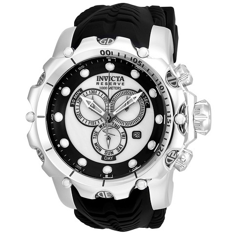 Men's Invicta 20395 Venom Quartz Chronograph Silver Dial Strap Watch - Black - image 1 of 1