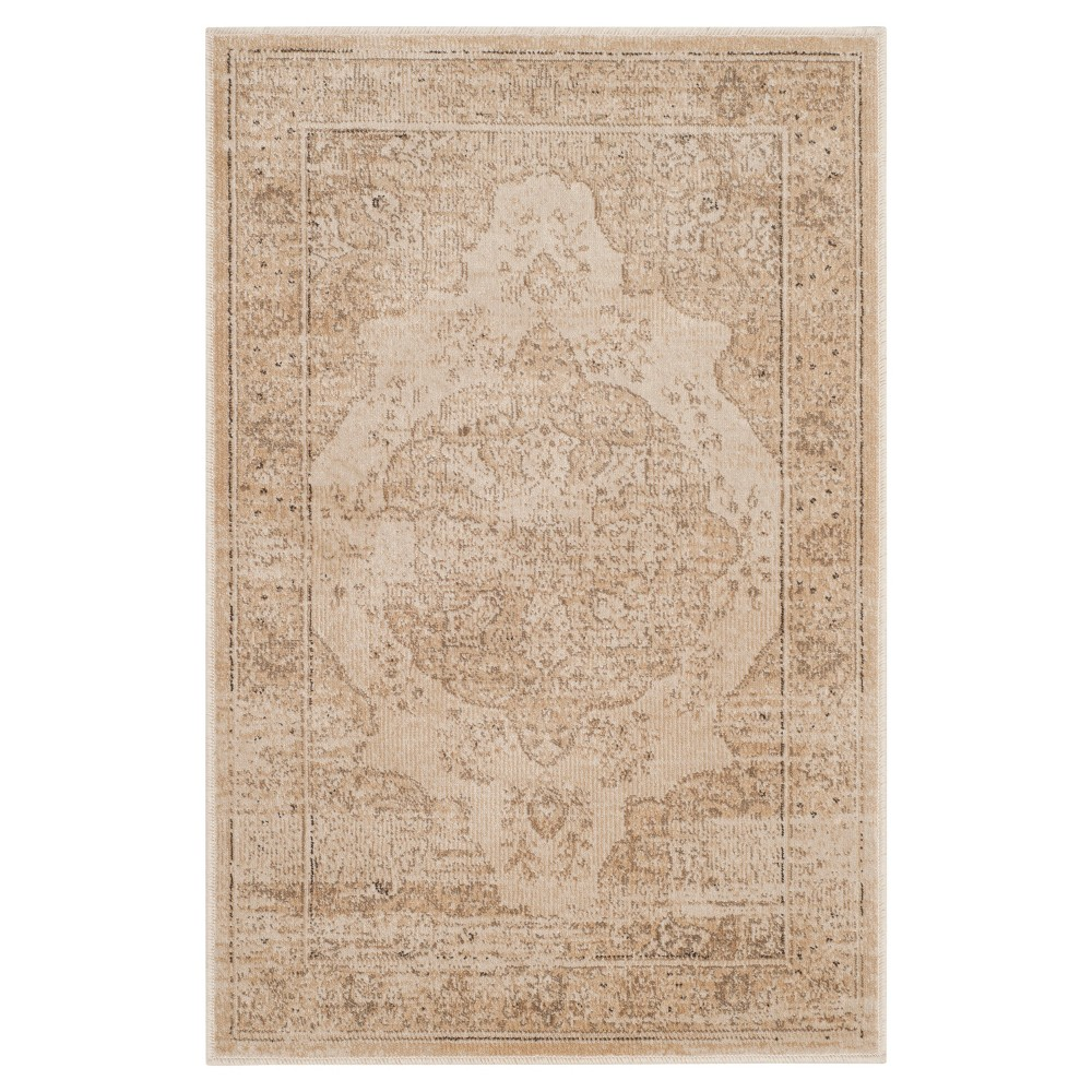 Creme Abstract Loomed Accent Rug - (2'X3') - Safavieh