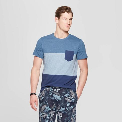 Men's Standard Fit Short Sleeve Indigo T-Shirt - Goodfellow & Co™ - image 1 of 3