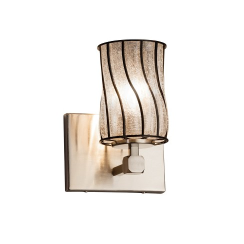 """Justice Design Group WGL-8421-10-SWCB-LED1-700 Wire Glass 6"""" Tetra 1 Light LED Wall Sconce - image 1 of 1"""