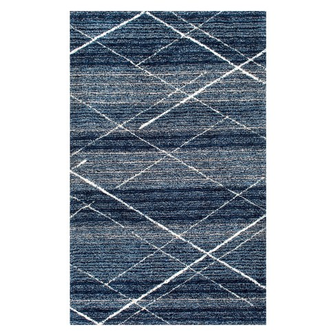 Blue Solid Tufted Area Rug - image 1 of 4