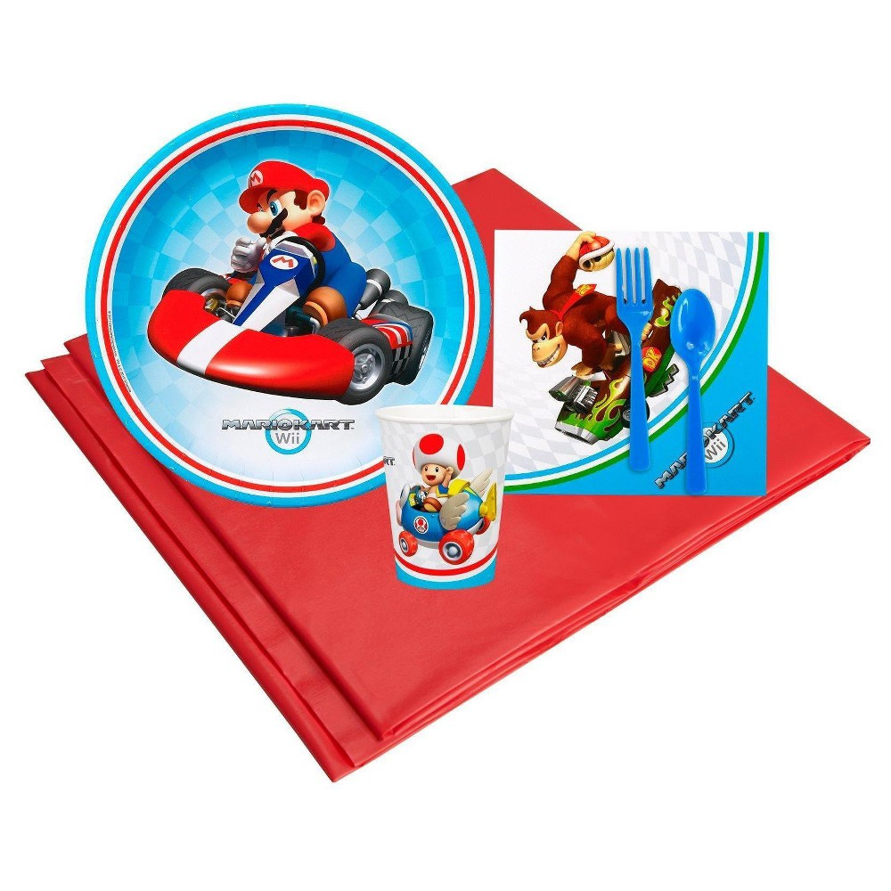 Mario Kart Wii 8 Guest Party Pk, Multicolored