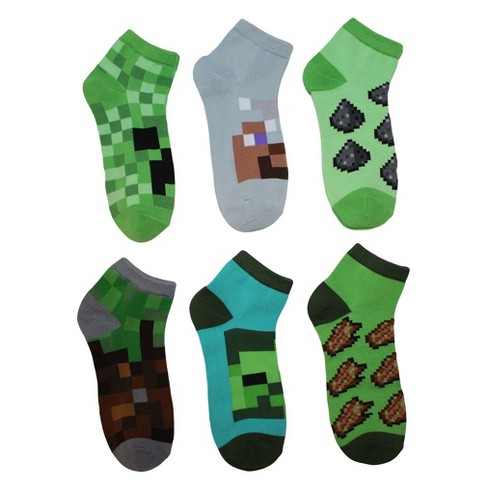 Boys' Minecraft 5pk + 1 Bonus Pack Socks - image 1 of 1